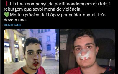 Un membre de Junts per Reus denuncia una agressió feixista durant la Diada a Barcelona
