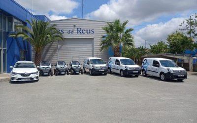 Aigües de Reus renova part de la seva flota mòbil amb set vehicles elèctrics