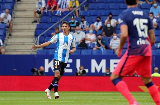 El tarragoní de 19 anys Lluís Recasens debuta amb l'Espanyol contra l'Atlético de Madrid