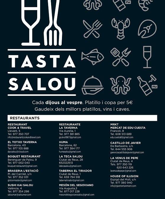 'Tasta Salou' torna dijous vinent amb la participació de 14 establiments del municipi
