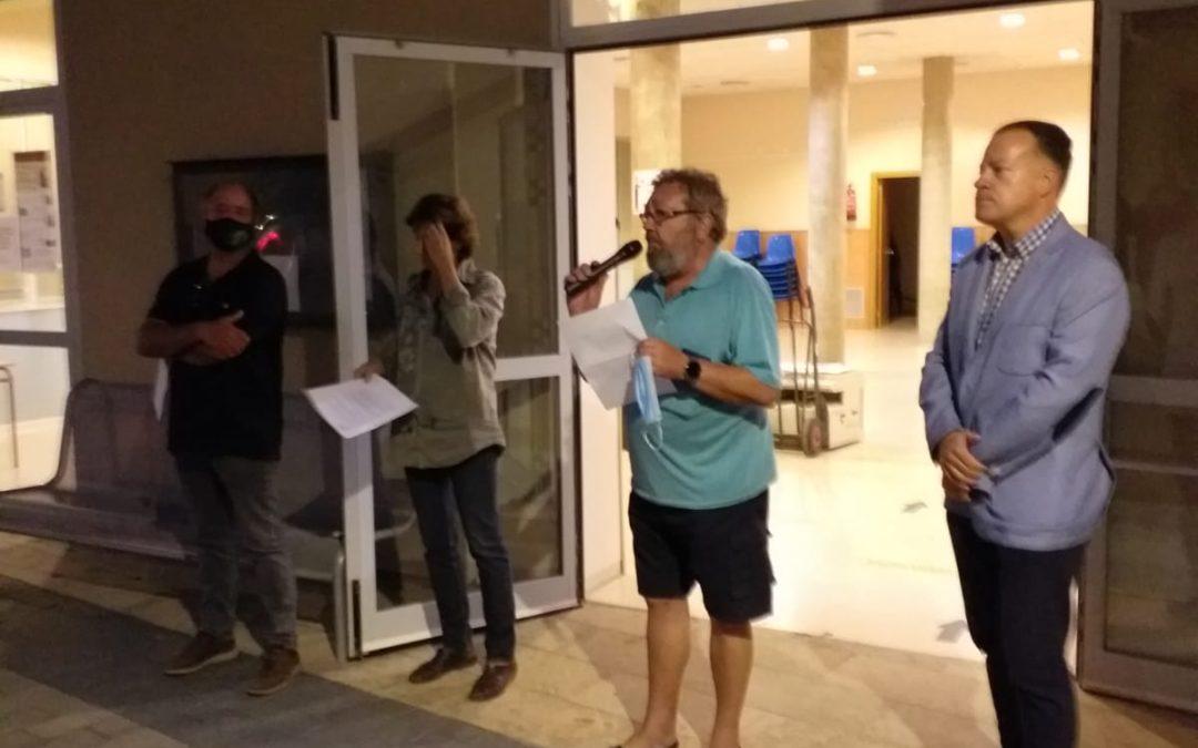 Concentració a Castellvell a favor de Carles Puigdemont