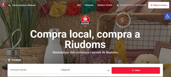 L'Ajuntament de Riudoms estrena un marketplace del comerç i serveis de proximitat