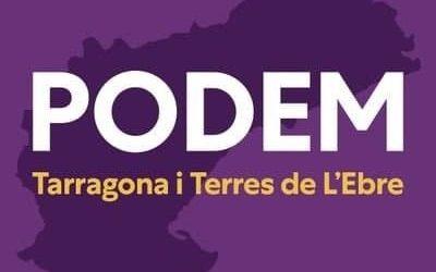 Acció unitària de Podem a la província de Tarragona aquest dissabte davant la pujada dels  preus de la llum i l'habitatge