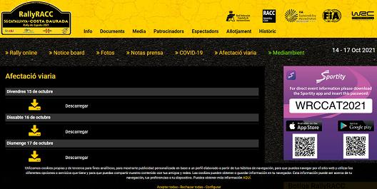 Dispositiu especial de trànsit al territori per al 56è Ral·li RACC Catalunya – Costa Daurada